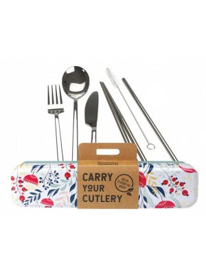 RETROKITCHEN Carry Your Cutlery - Botanical Stainless Steel Cutlery Set 1