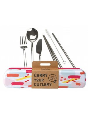 RETROKITCHEN Carry Your Cutlery - Colour Splash Stainless Steel Cutlery Set 1