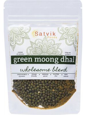 SATVIK FOODS Green Moong Dhal Wholesome Blend 210g