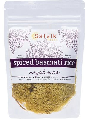 SATVIK FOODS Spiced Basmati Rice Royal Rice 240g