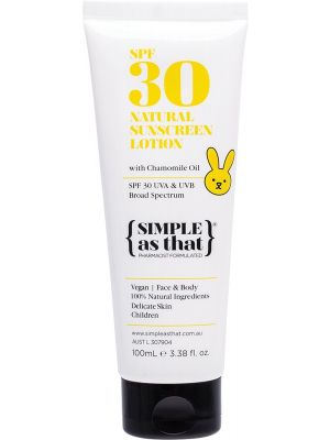 SIMPLE AS THAT Children Natural Sunscreen Lotion SPF 30 UVA & UVB Broad Spectrum 100ml