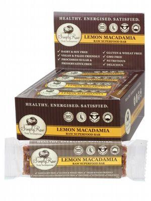 SIMPLY RAW Lemon Macadamia Bar Raw Superfood 20 x 50g