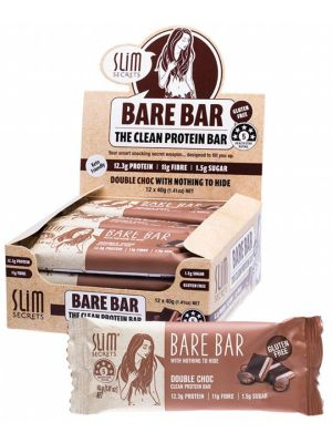 SLIM SECRETS Bare Bar Double Choc 12x40g