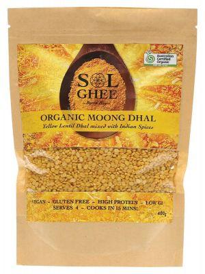 SOL GHEE Organic Moong Dhal 400g