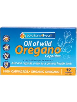 SOLUTIONS 4 HEALTH Oil Of Wild Oregano VegeCaps 12