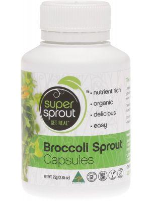SUPER SPROUT Broccoli Sprout Powder VegeCaps (750mg) 100 caps