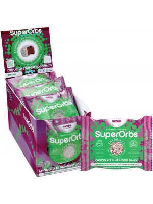 SUPERORBS Chocolate Superfood Snack Cacao (Box Of 9) 9x40g