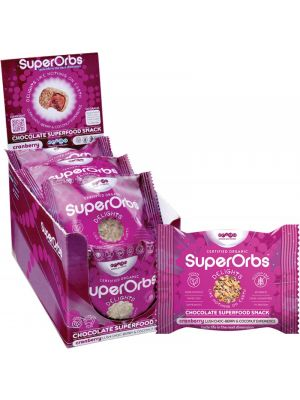 SUPERORBS Chocolate Superfood Snack Cranberry (Box Of 9) 9x40g