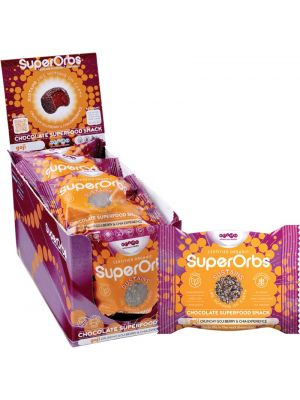SUPERORBS Chocolate Superfood Snack Goji (Box Of 9) 9x40g