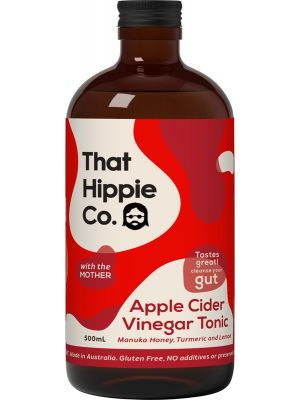 THAT HIPPIE CO Apple Cider Vinegar Tonic Contains The Mother 500ml