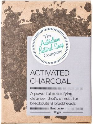 THE AUSTRALIAN NATURAL SOAP CO Activated Charcoal Unscented 100g