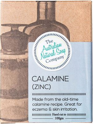 THE AUSTRALIAN NATURAL SOAP CO Calamine With Zinc Unscented 100g