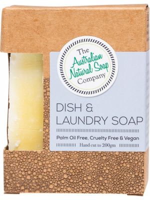 THE AUSTRALIAN NATURAL SOAP CO Dish & Laundry Soap Bar 200g