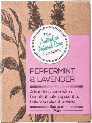 THE AUSTRALIAN NATURAL SOAP CO Peppermint & Lavender 100g