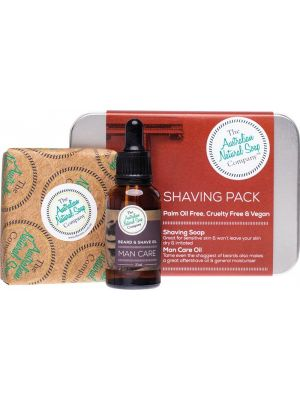 THE AUSTRALIAN NATURAL SOAP CO Shaving Pack Includes Shaving Soap Bar & Oil 2