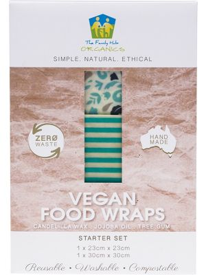 THE FAMILY HUB ORGANICS Vegan Food Wraps - Starter Set 1x Medium & Large 2