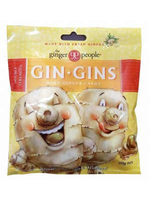 THE GINGER PEOPLE Gin Gins Ginger Candy Bag Hard - Double Strength 60g