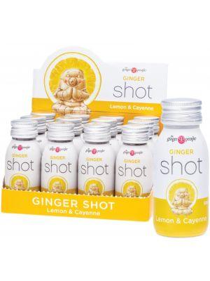 THE GINGER PEOPLE Ginger Shot Lemon & Cayenne 12x60ml