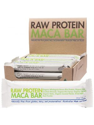 THE HEALTH FOOD GUYS Raw Protein Bar Maca - Box Of 12 12x55g