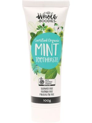 THE WHOLE BOODIES Toothpaste Mint 100g