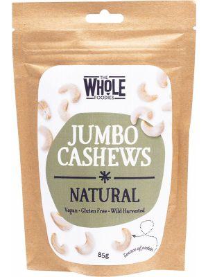 THE WHOLE FOODIES Jumbo Cashews Natural 85g