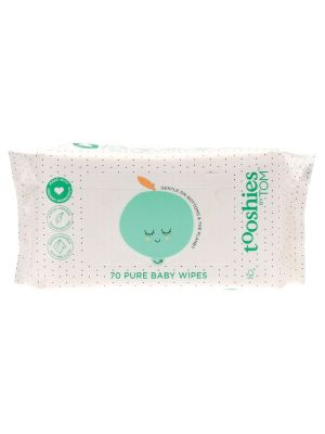 TOM ORGANIC Tooshies Pure Baby Wipes 70