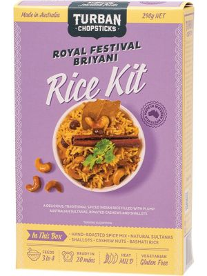 TURBAN CHOPSTICKS Rice Kit Royal Festival Briyani 290g