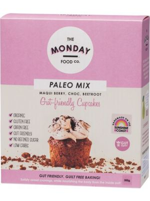 The Monday Food Co Paleo Cupcakes Mix Maqui Berry, Choc, Beetroot 300g