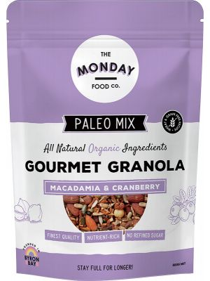 The Monday Food Co. Paleo Granola Macadamia & Cranberry 800g