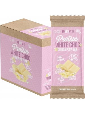 VITAWERX Protein White Chocolate Bar Quinoa Puff 12x100g