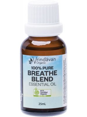 VRINDAVAN Essential Oil (100%) Breathe Blend 25ml