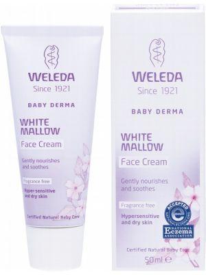 WELEDA White Mallow Face Cream Baby Derma - Fragrance Free 50ml