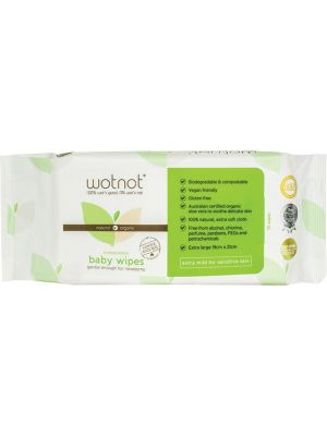 WOTNOT Baby Wipes 100% Biodegradable 70