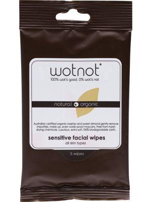 WOTNOT Facial Wipes Sensitive 5 pack