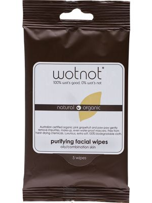 WOTNOT Facial Wipes Oily + Sensitive Skin 5 pack