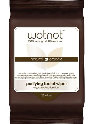 WOTNOT Facial Wipes Oily + Sensitive Skin 25 pack