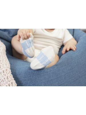 Happy Planet 3PK Bamboo Baby Socks - Cashmere Blue/Oatmeal