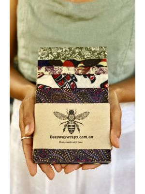 Beeswax Wraps Family Starter 4 Pack