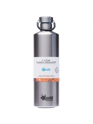 CHEEKI Stainless Steel Bottle  Insulated - Silver 1L