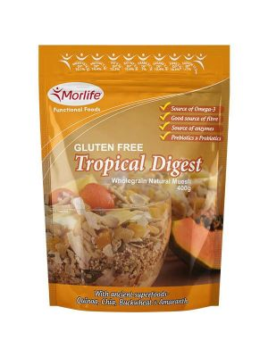 Morlife Tropical Digest Gluten Free Wholegrain Muesli 400g