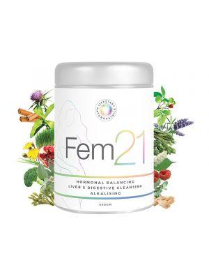 Fem21 Hormonal Balancing Liver & Digestive Cleansing Alkalising - 300g