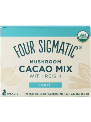 FOUR SIGMATIC Mushroom Hot Cacao Mix Packets With Reishi 10 x 6g