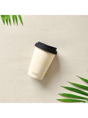 Reusable bamboo coffee cup 8oz - Sand