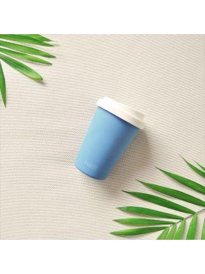 Reusable bamboo coffee cup 8oz - Sky