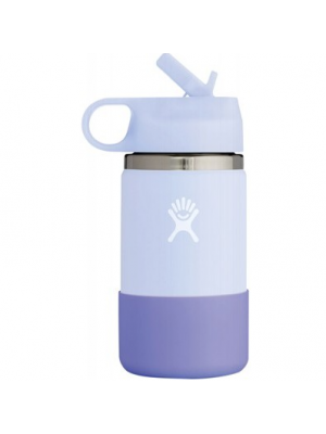 HYDRO FLASK Wide Mouth Kids Bottle - Straw Lid Double Insulated - Fog 354ml