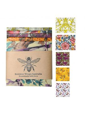 Beeswax Wraps Lunch & Snack Pack