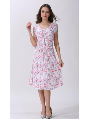 Blissful Maternity Modal Front Knot Nursing Maternity Dress