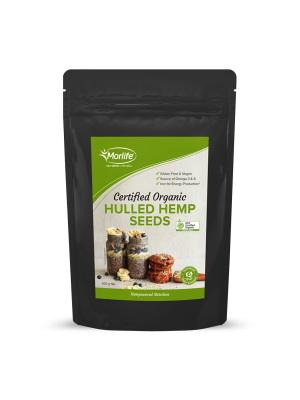 Morlife Hulled Hemp Seeds (Certified Organic) 500g