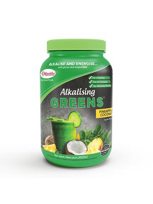 Morlife Alkalising Greens® Pineapple Coconut 1kg Jar