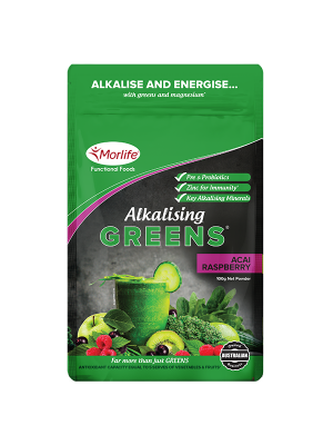 Morlife Alkalising Greens® Acai Raspberry 300g Pouch
